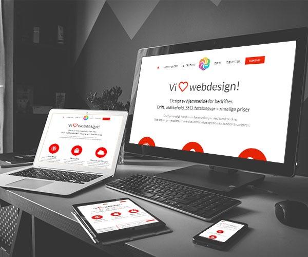 Web design for hjemmeside bedrift